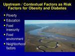upstream contextual factors as risk factors for obesity and diabetes