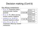 decision making cont d