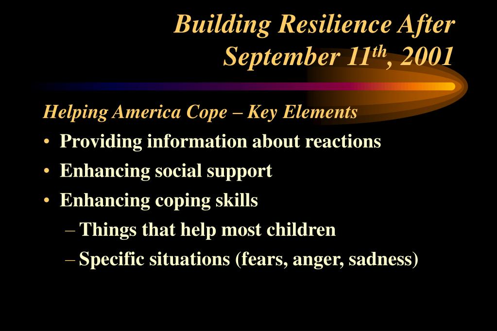 Building Resilience After