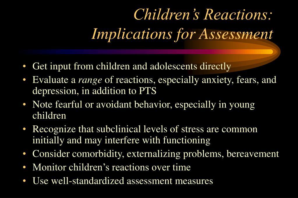 Children's Reactions: