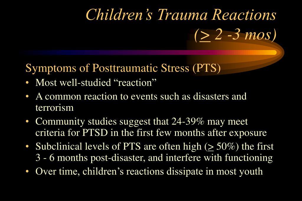 Children's Trauma Reactions