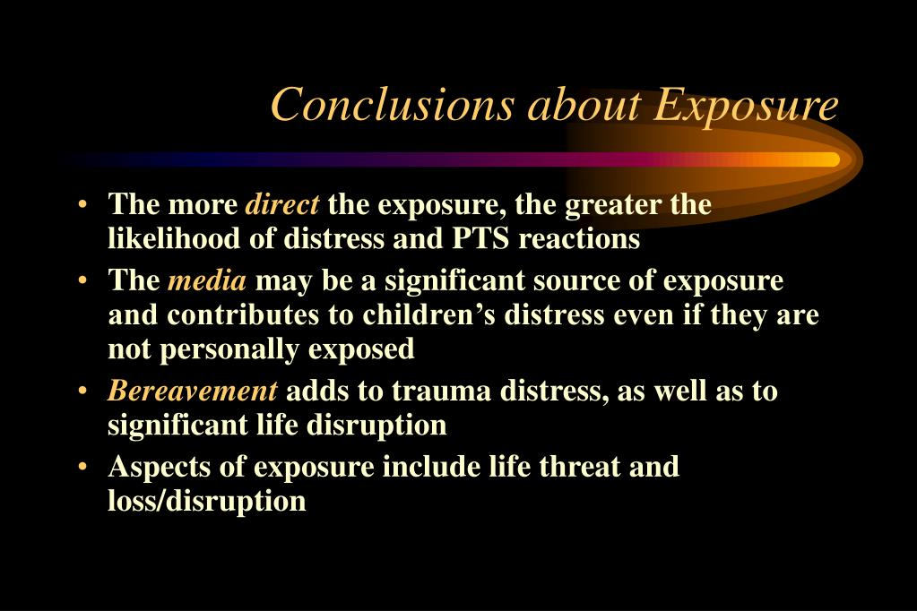 Conclusions about Exposure