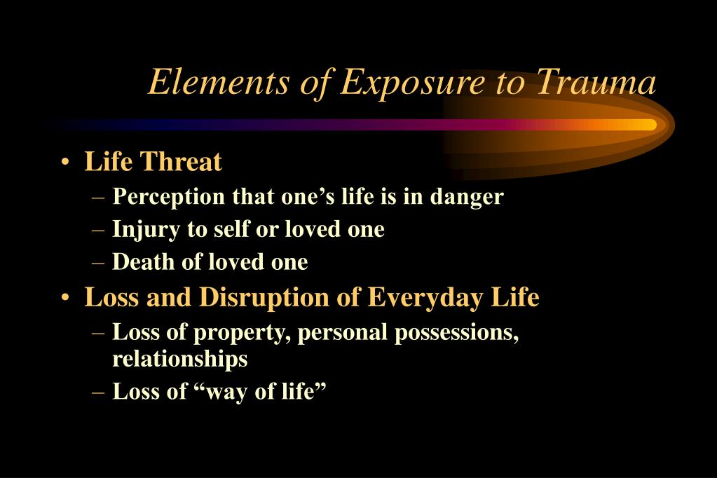 Elements of Exposure to Trauma