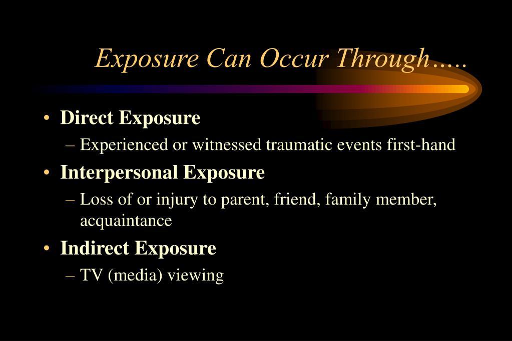 Exposure Can Occur Through…..