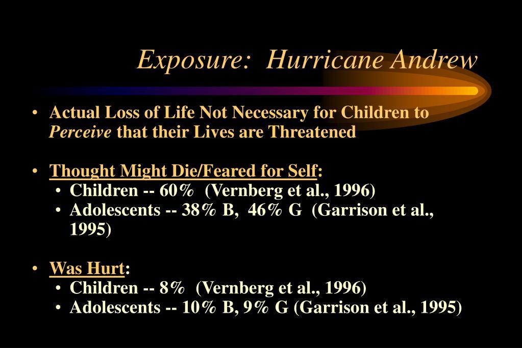 Exposure:  Hurricane Andrew