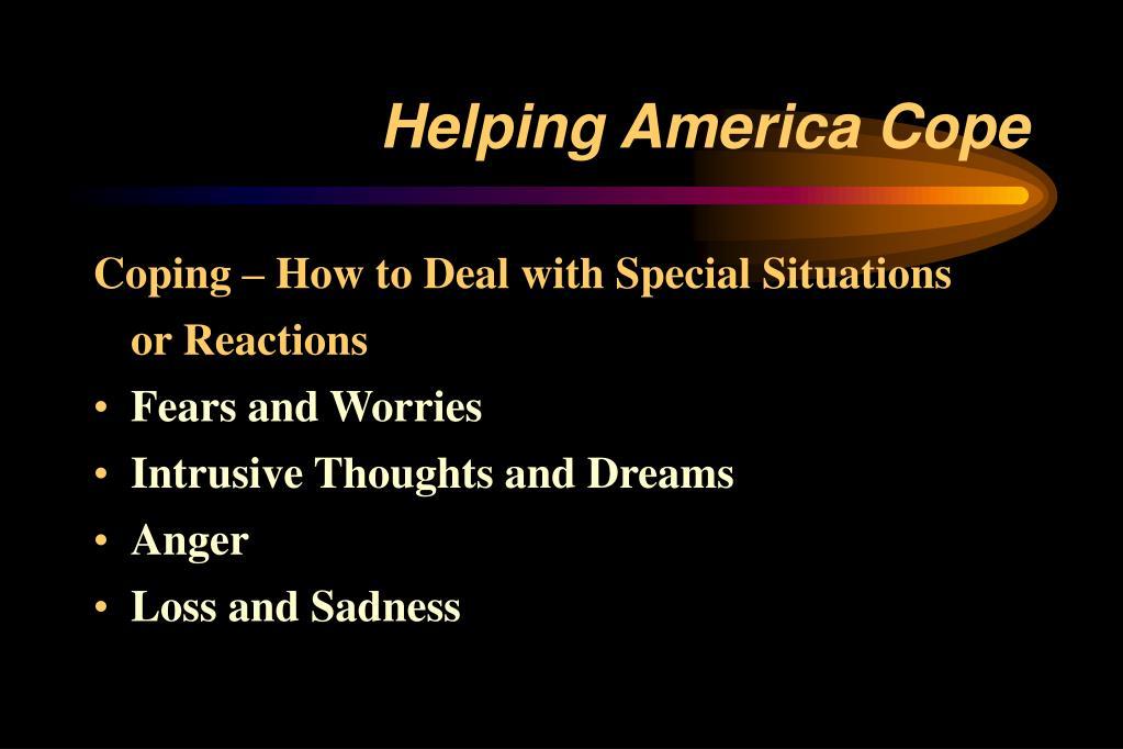 Helping America Cope