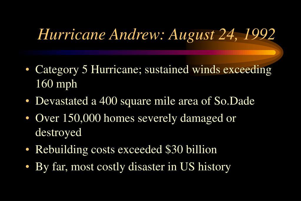 Hurricane Andrew: August 24, 1992