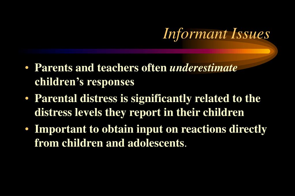 Informant Issues