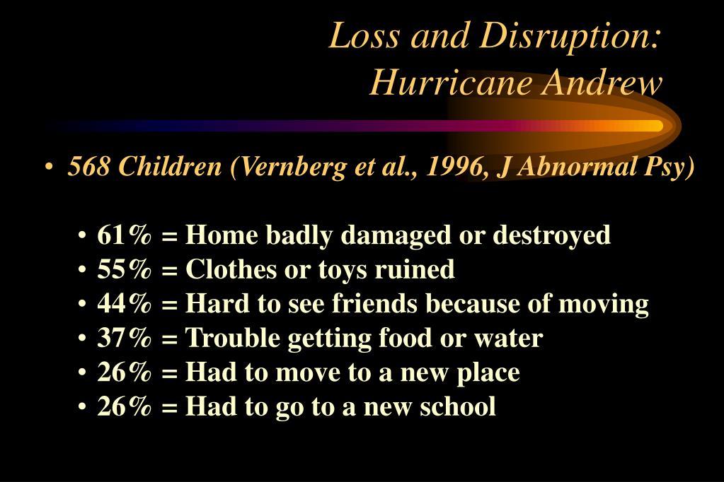 Loss and Disruption: