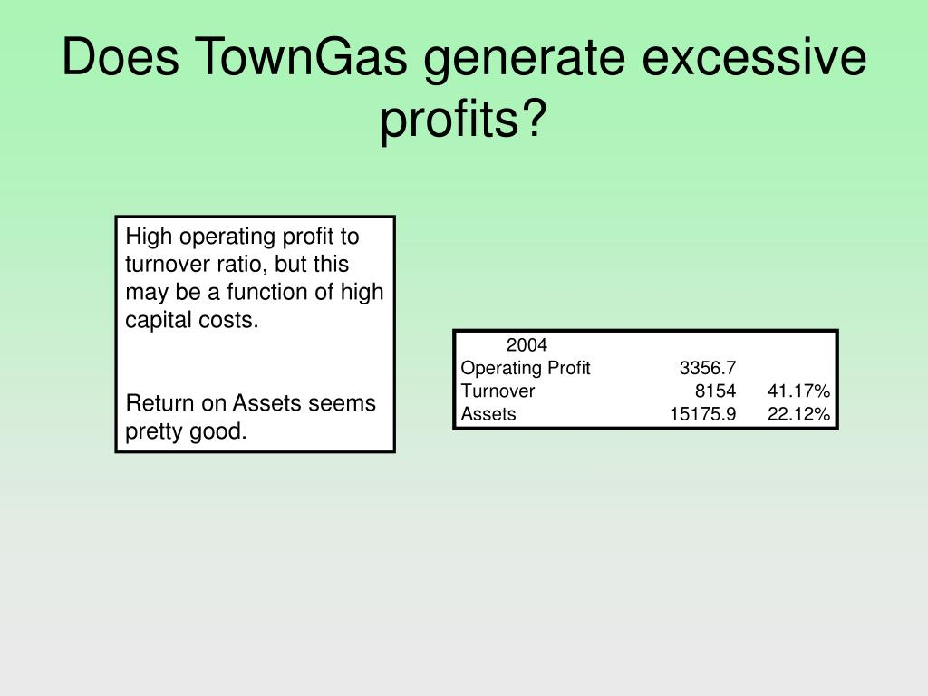Does TownGas generate excessive profits?