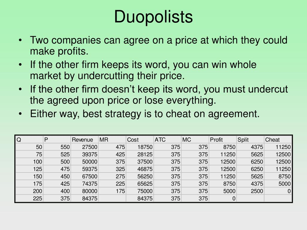 Duopolists