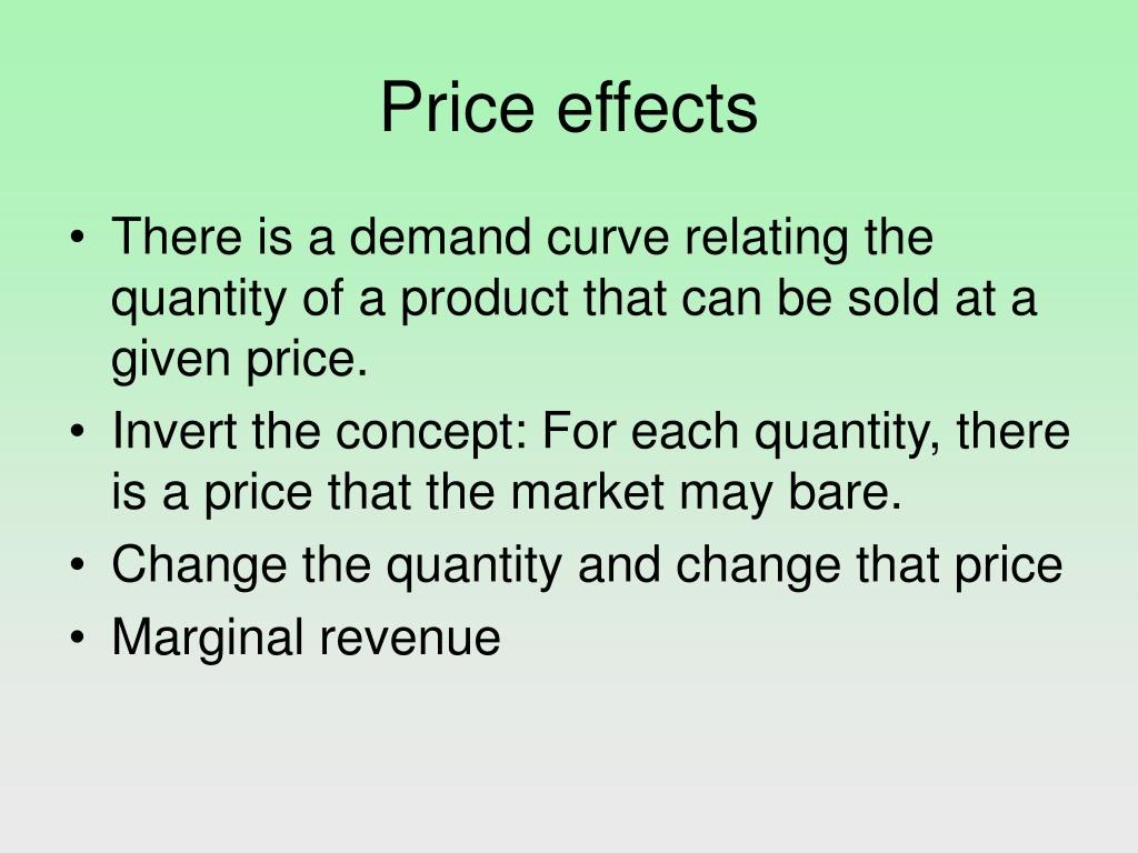 Price effects