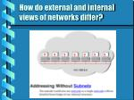 how do external and internal views of networks differ