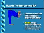 how do ip addresses work