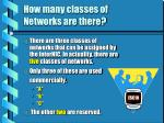how many classes of networks are there