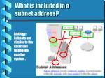 what is included in a subnet address