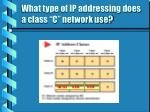 what type of ip addressing does a class c network use15