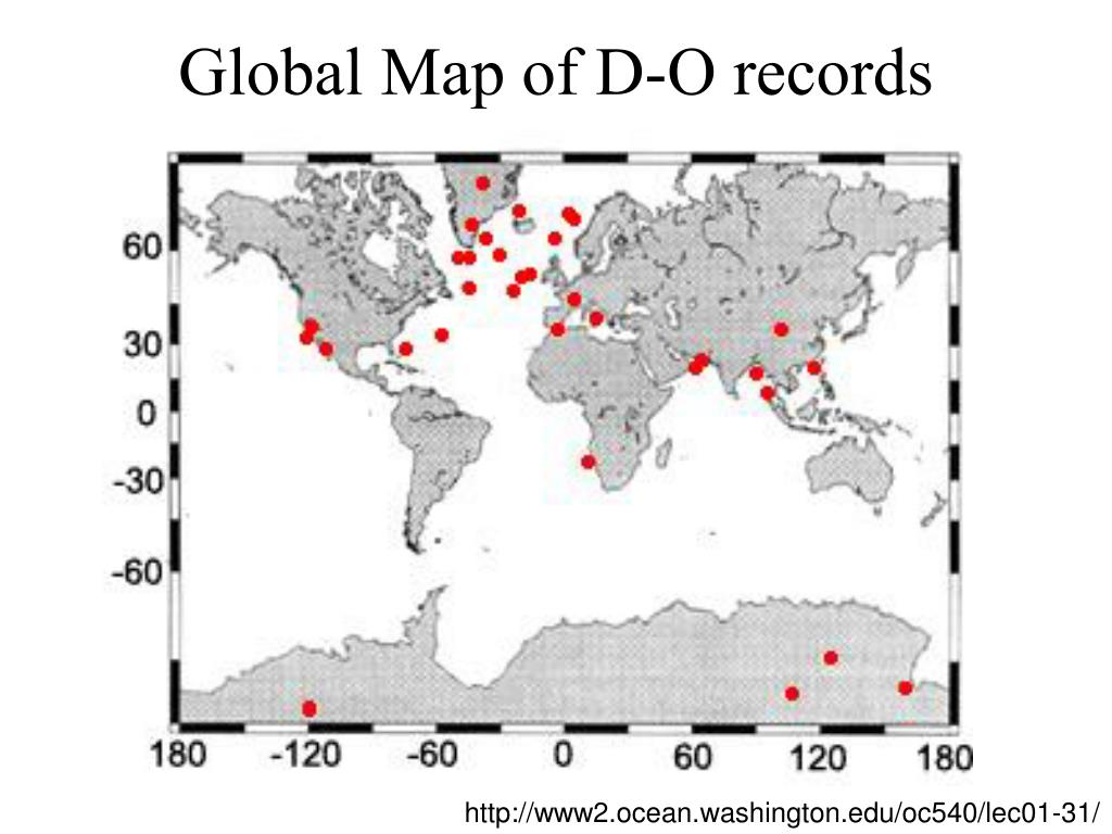 Global Map of D-O records