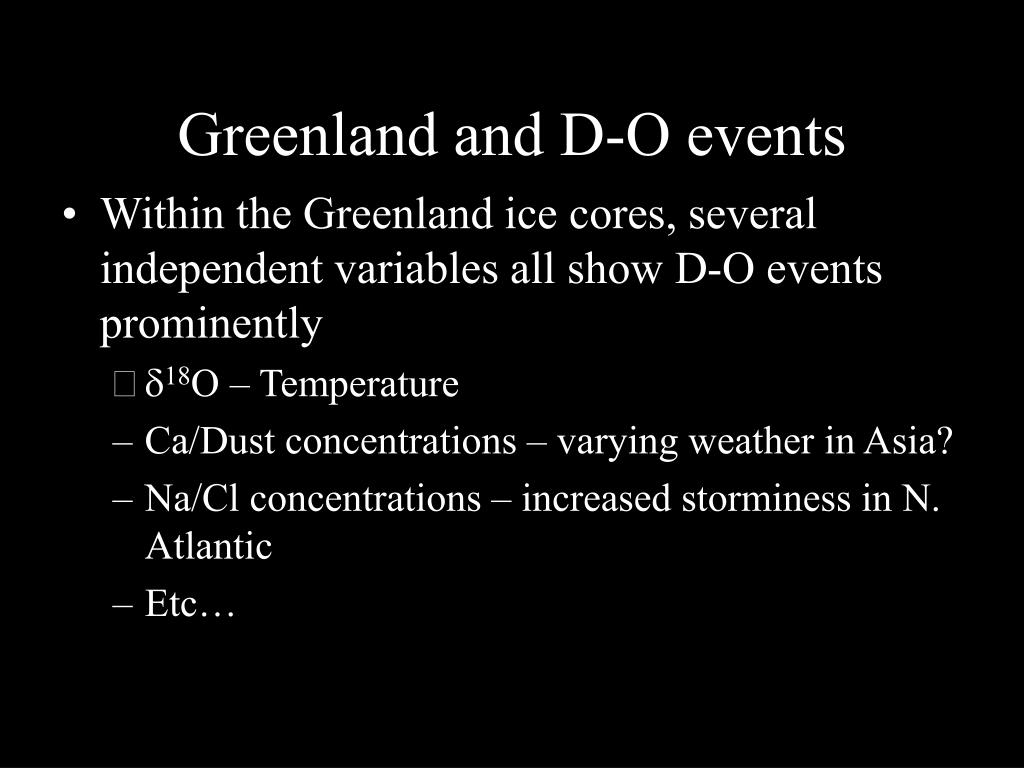 Greenland and D-O events