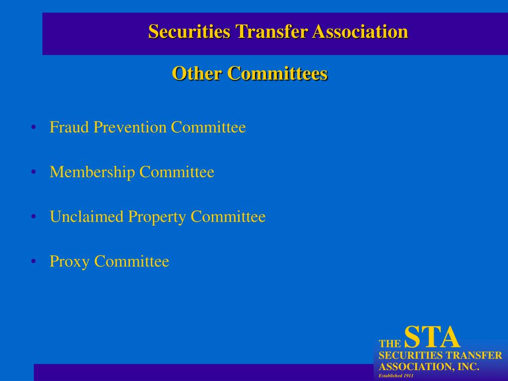 Fraud Prevention Committee