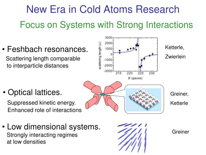 New Era in Cold Atoms Research