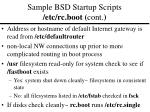 sample bsd startup scripts etc rc boot cont