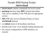 sample bsd startup scripts etc rc local