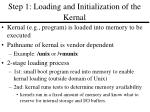 step 1 loading and initialization of the kernal