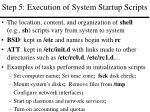 step 5 execution of system startup scripts
