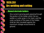 1926 351 arc welding and cutting30