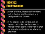 1926 352 fire prevention