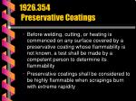 1926 354 preservative coatings