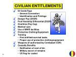 civilian entitlements