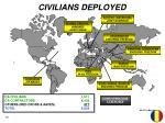 civilians deployed