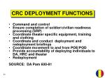 crc deployment functions