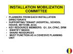 installation mobilization committee