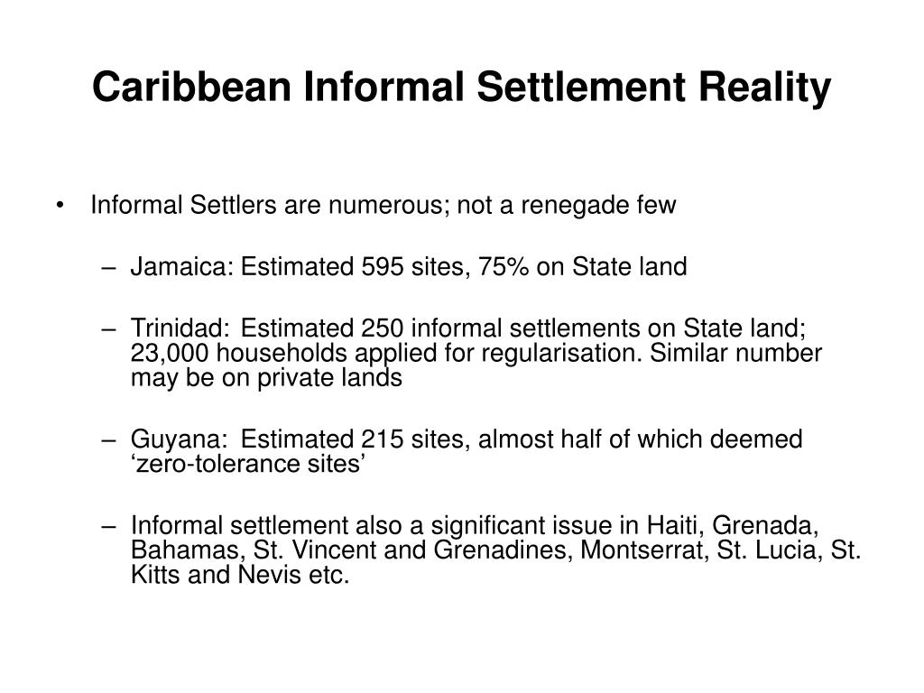 Caribbean Informal Settlement Reality