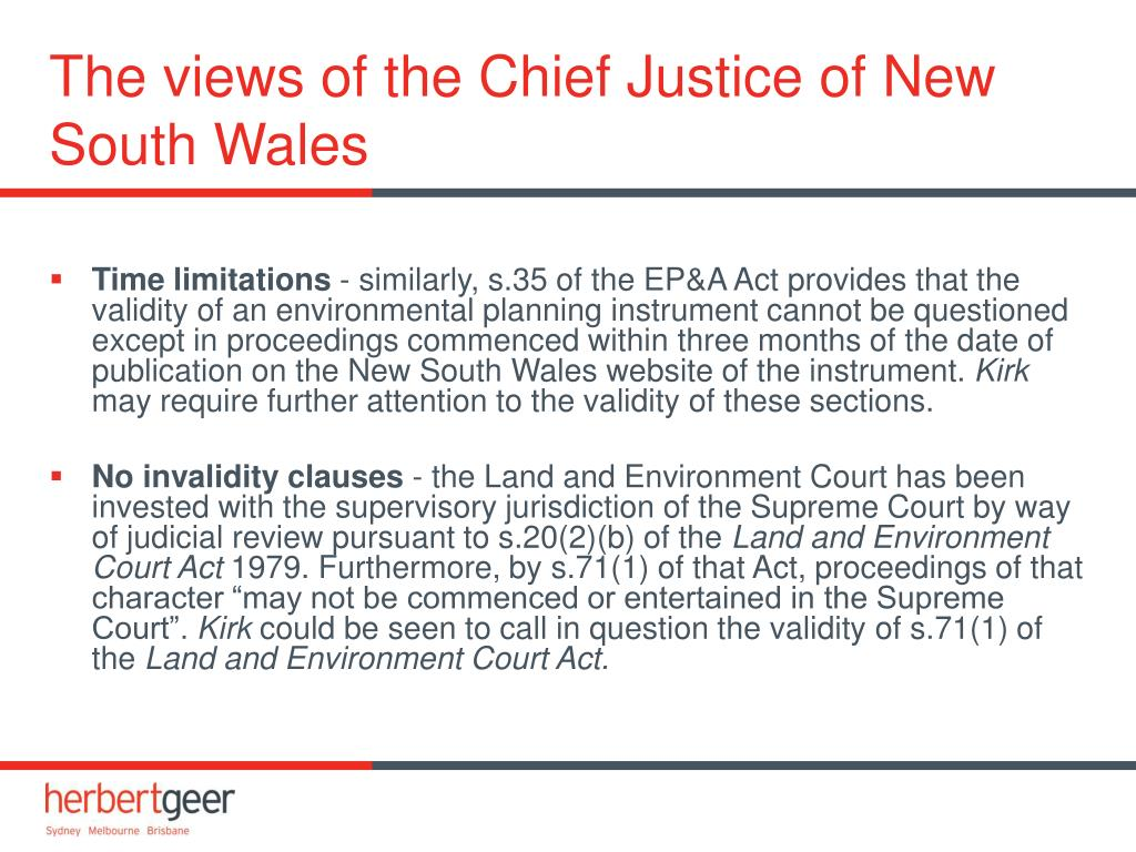 The views of the Chief Justice of New South Wales