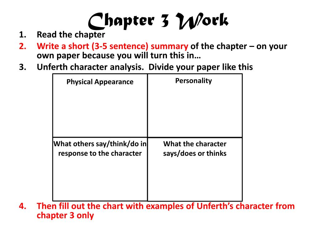 Chapter 3 Work