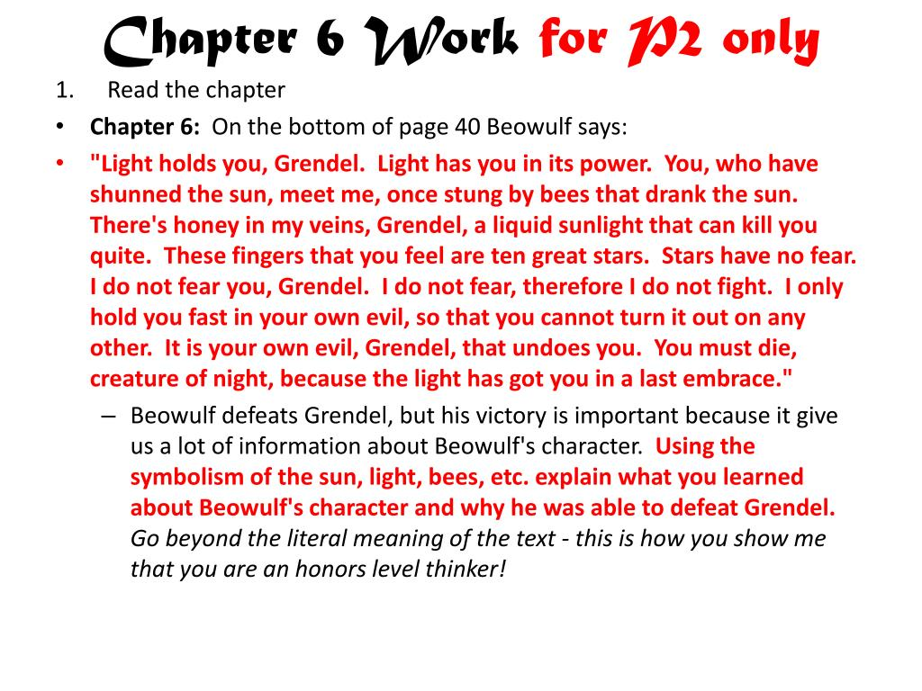 Chapter 6 Work
