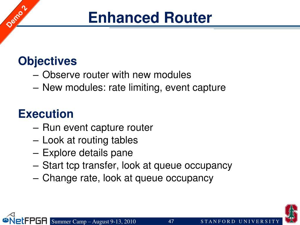 Enhanced Router