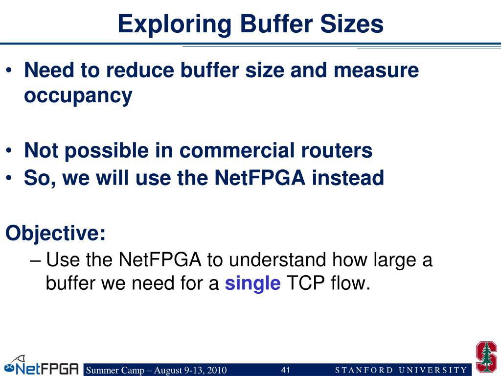 Exploring Buffer Sizes