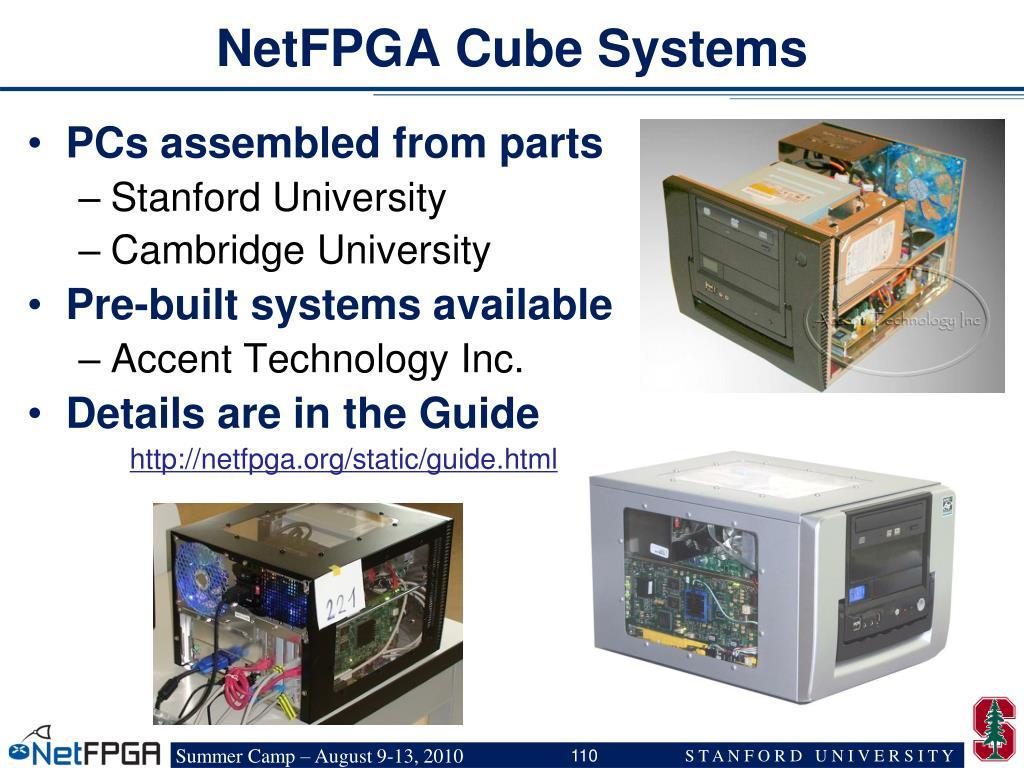 NetFPGA Cube Systems