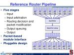 reference router pipeline