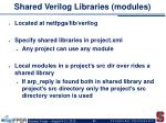 shared verilog libraries modules