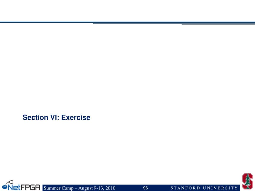 Section VI: Exercise