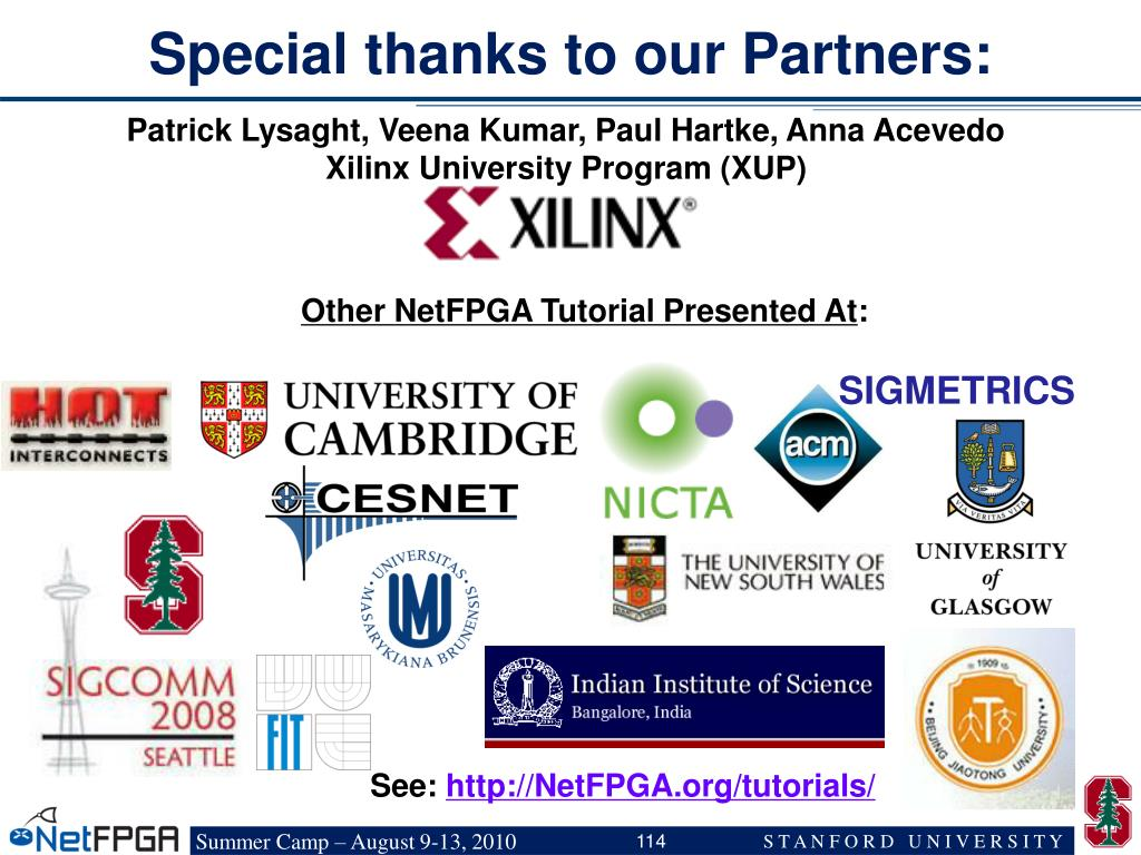 Special thanks to our Partners: