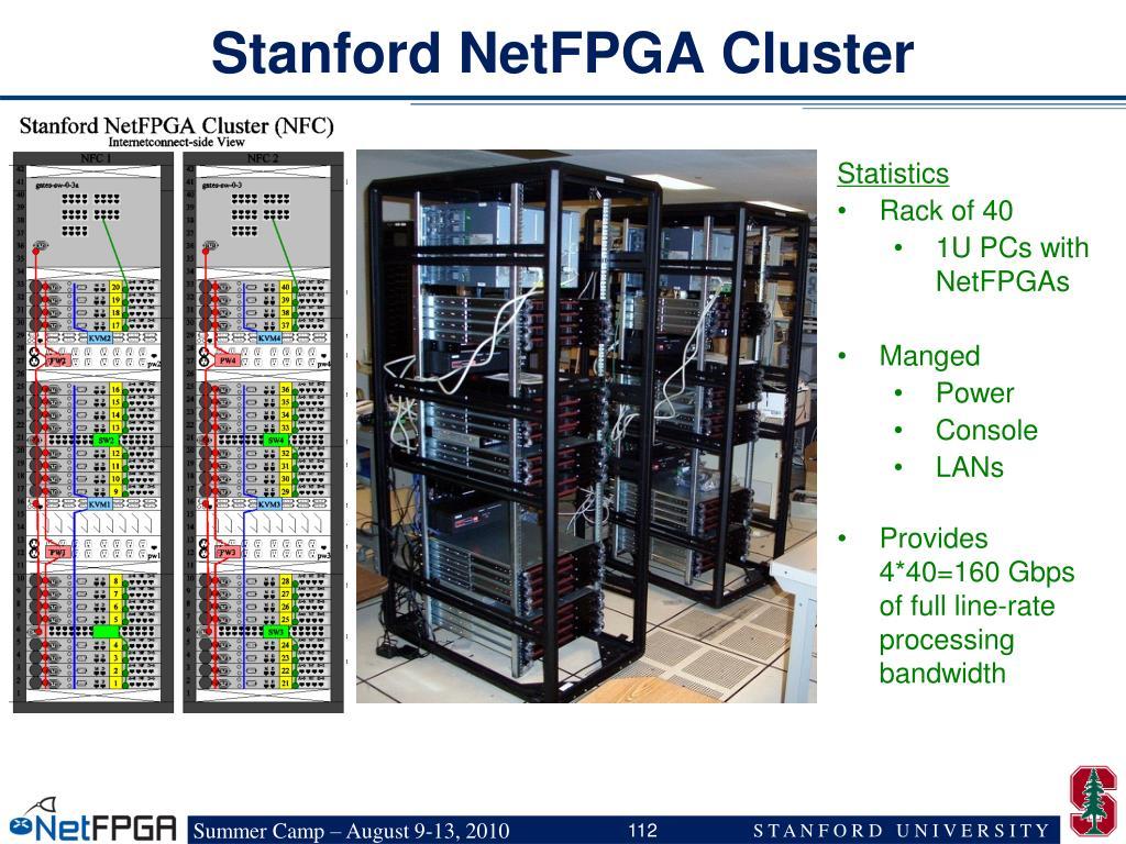 Stanford NetFPGA Cluster