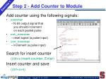 step 2 add counter to module