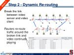 step 2 dynamic re routing